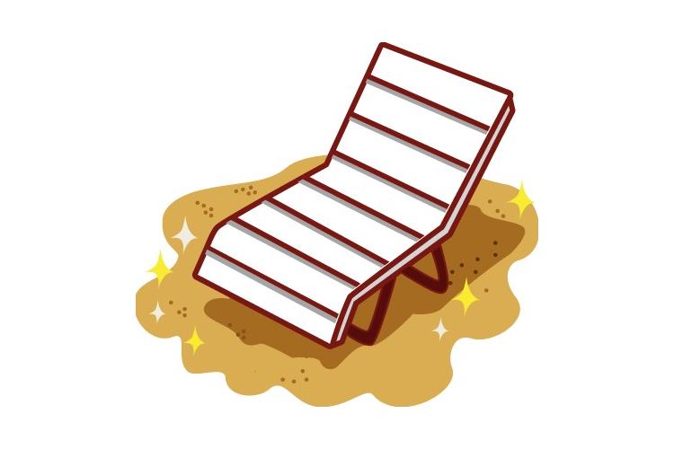 沙滩椅 高清素材